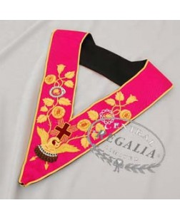 A001 Rose Croix 18th Degree Collar Hand Embroidered