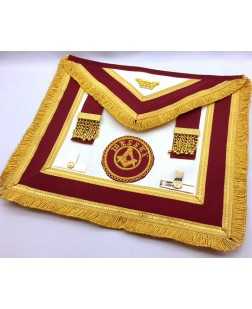 Athelstan  Provincial  Apron  -imitation Lambskin  - With Badge