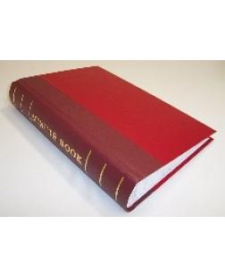 Minute Book 250pp Red Binding