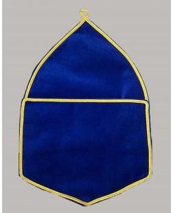 F008 Alms Bags In Blue Velvet - Large  (a4)