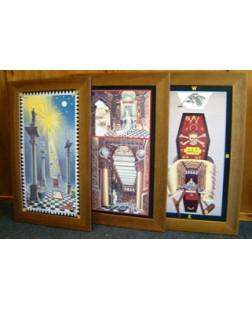 F016 Set Of 3 Tracing Boards Framed-  (framed)