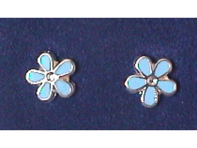 G129 Forget Me Not Earrings Stering Silver