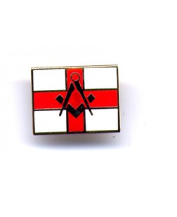 G346 Lapel Pin - S&c On St George Flag