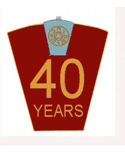 G446 - Mark 40 Year Lapel Pin