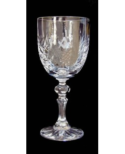 Crystal Glass Wine Goblet - With Square & Compass