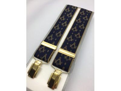 G610  - Masonic Braces - S & C  On Blue
