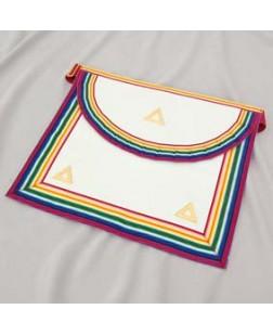 N107 Ram Grand Officers Apron Lambskin Pocket Gilt Triangles