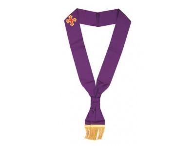 X001 Rcc Sash For Knight Companion     Purple Plus Embriodered Emblem