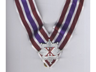 X039 Rcc Knight Grand Cross Collarette White/crimson/purple With Miniature  Star
